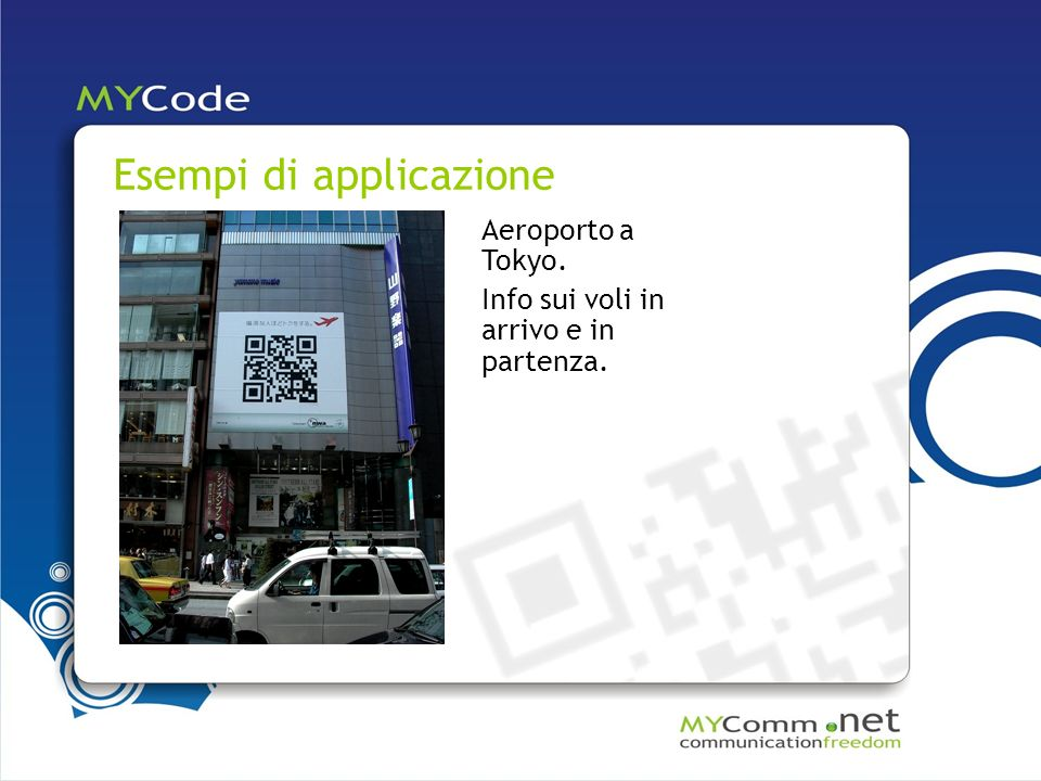 Esempi di applicazione Aeroporto a Tokyo. Info sui voli in arrivo e in partenza.