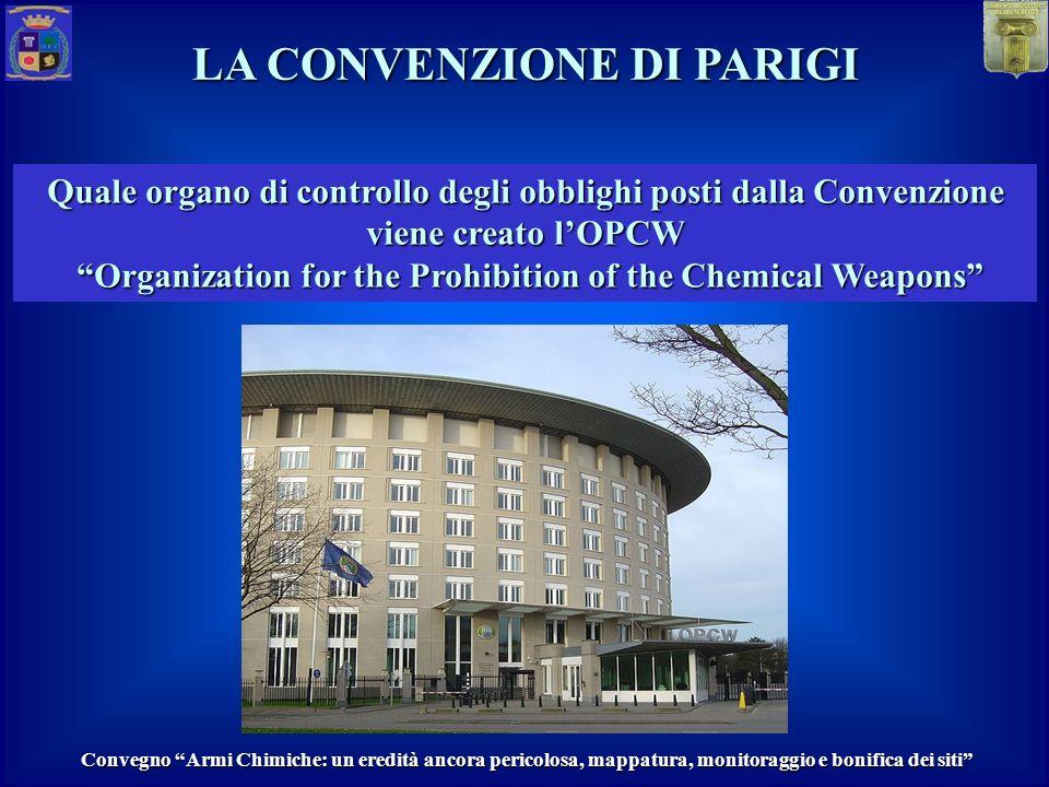 Quale organo di controllo degli obblighi posti dalla Convenzione viene creato lOPCW Organization for the Prohibition of the Chemical Weapons Organizat