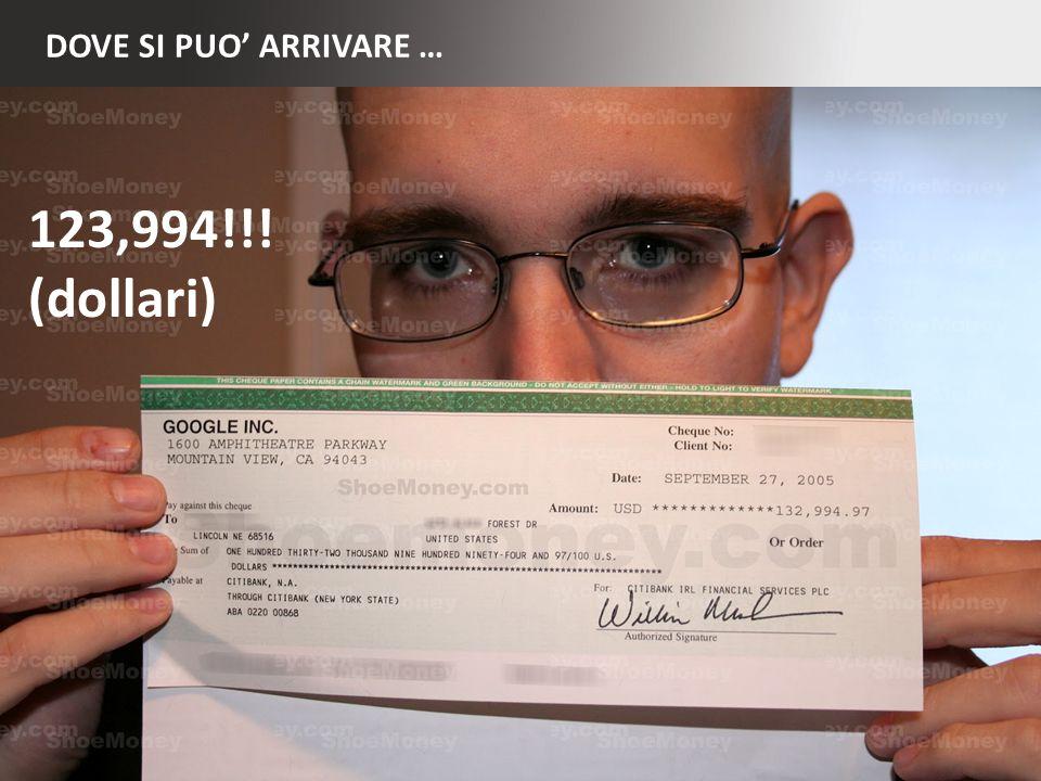DOVE SI PUO ARRIVARE … 3 123,994!!! (dollari)