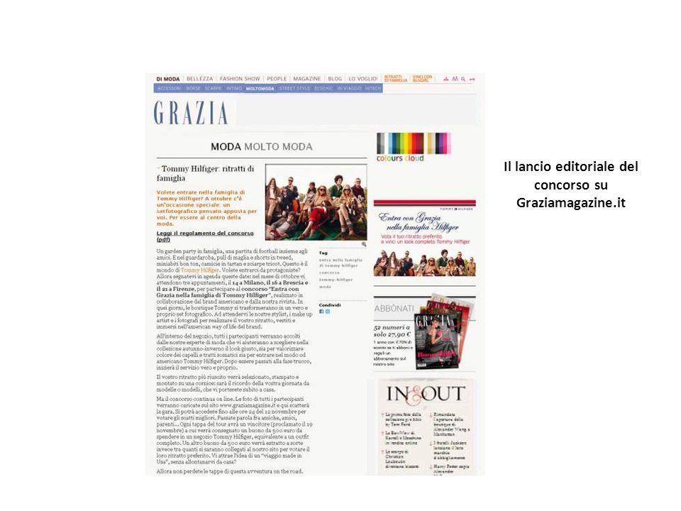Il lancio editoriale del concorso su Graziamagazine.it