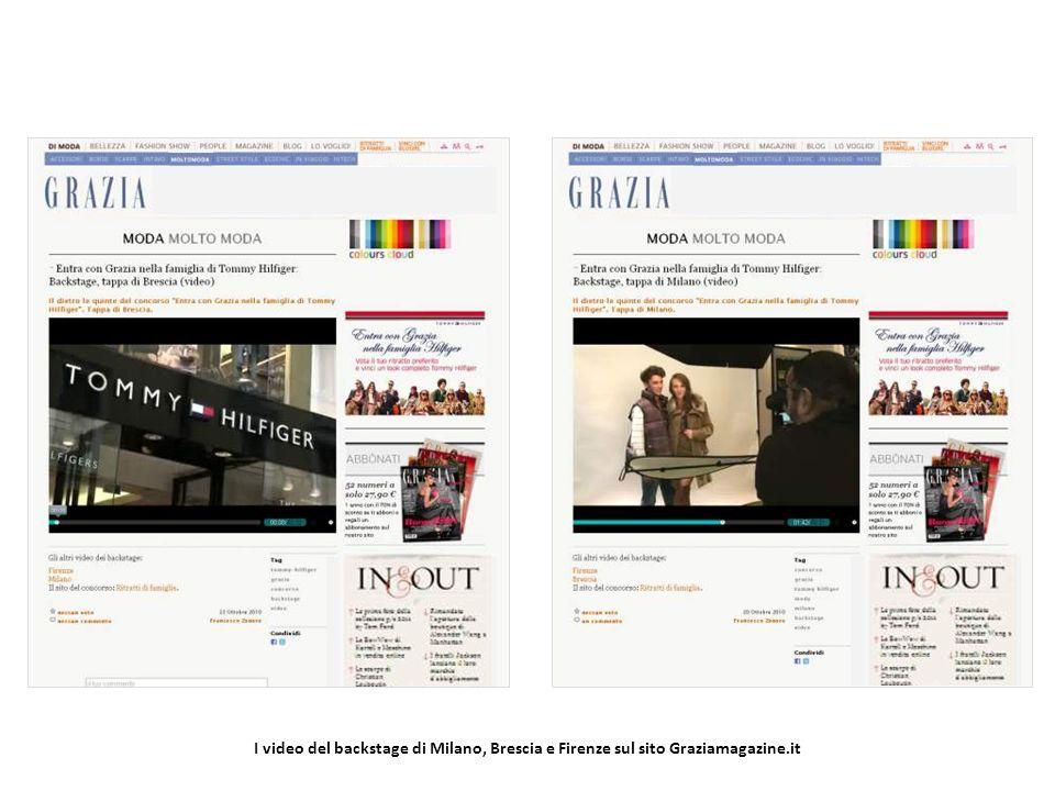 I video del backstage di Milano, Brescia e Firenze sul sito Graziamagazine.it