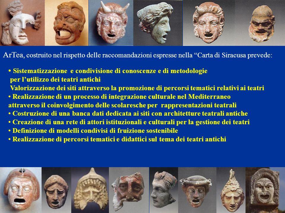 Sistematizzazione e condivisione di conoscenze e di metodologie per lutilizzo dei teatri antichi Valorizzazione dei siti attraverso la promozione di p