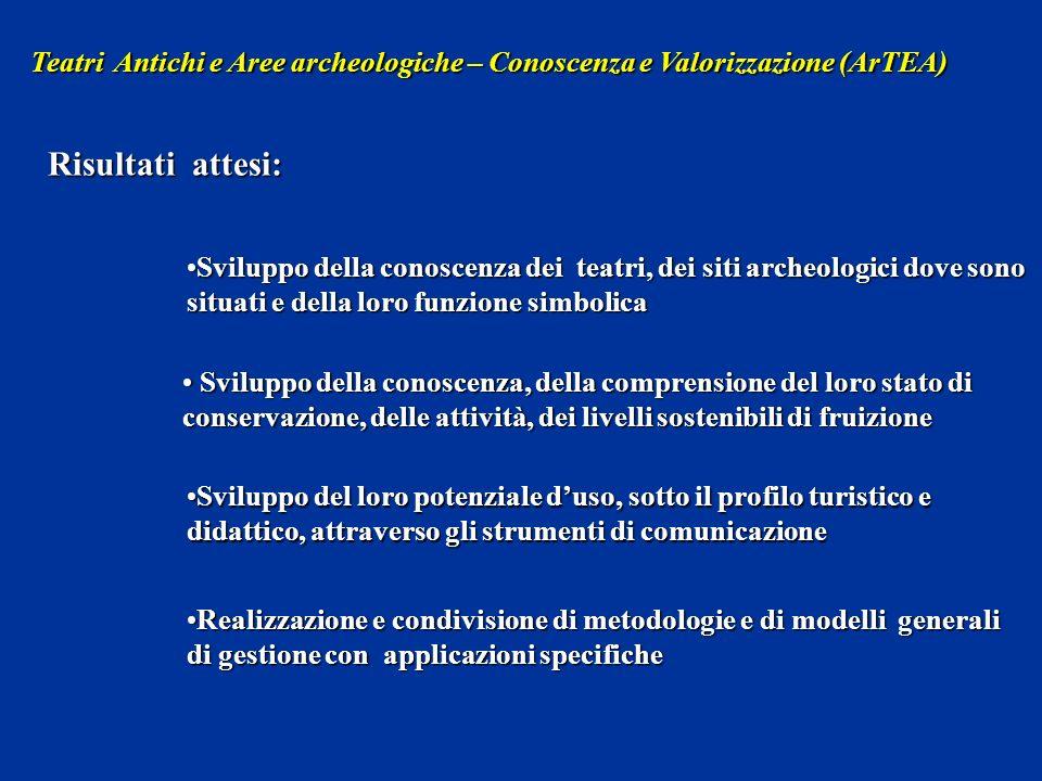 Sviluppo della conoscenza dei teatri, dei siti archeologici dove sono situati e della loro funzione simbolicaSviluppo della conoscenza dei teatri, dei