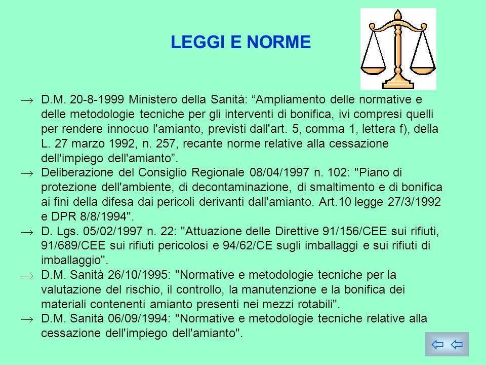 LEGGI E NORME D.M.