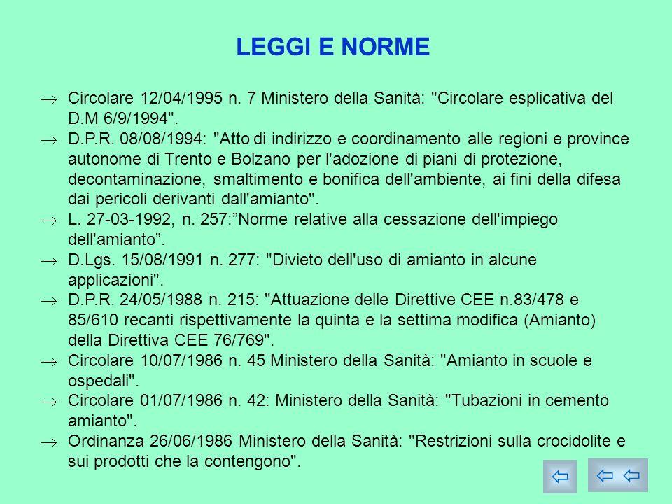 LEGGI E NORME Circolare 12/04/1995 n.
