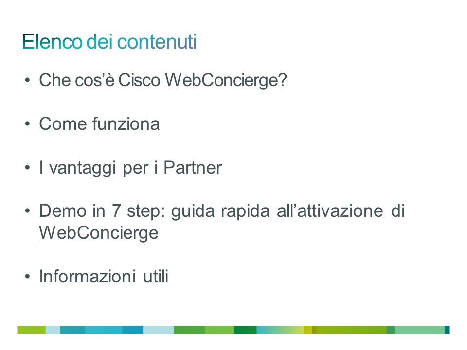 Che cosè Cisco WebConcierge.