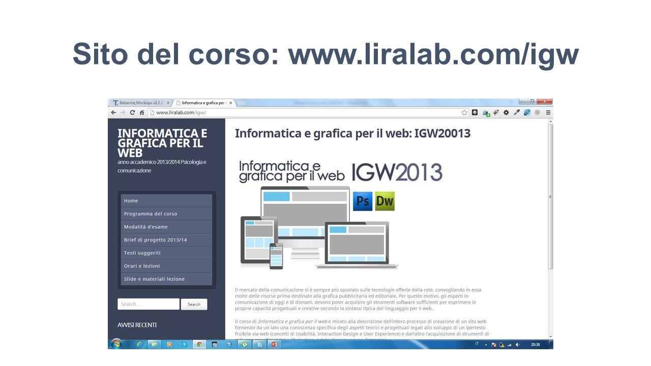 Sito del corso: www.liralab.com/igw