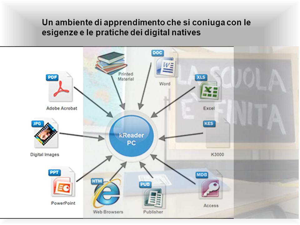 Un ambiente di apprendimento che si coniuga con le esigenze e le pratiche dei digital natives