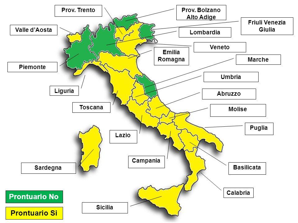 Abruzzo Marche Molise Puglia Campania Lazio Basilicata Calabria Sicilia Sardegna Toscana Liguria Piemonte Umbria Valle dAosta Lombardia Emilia Romagna