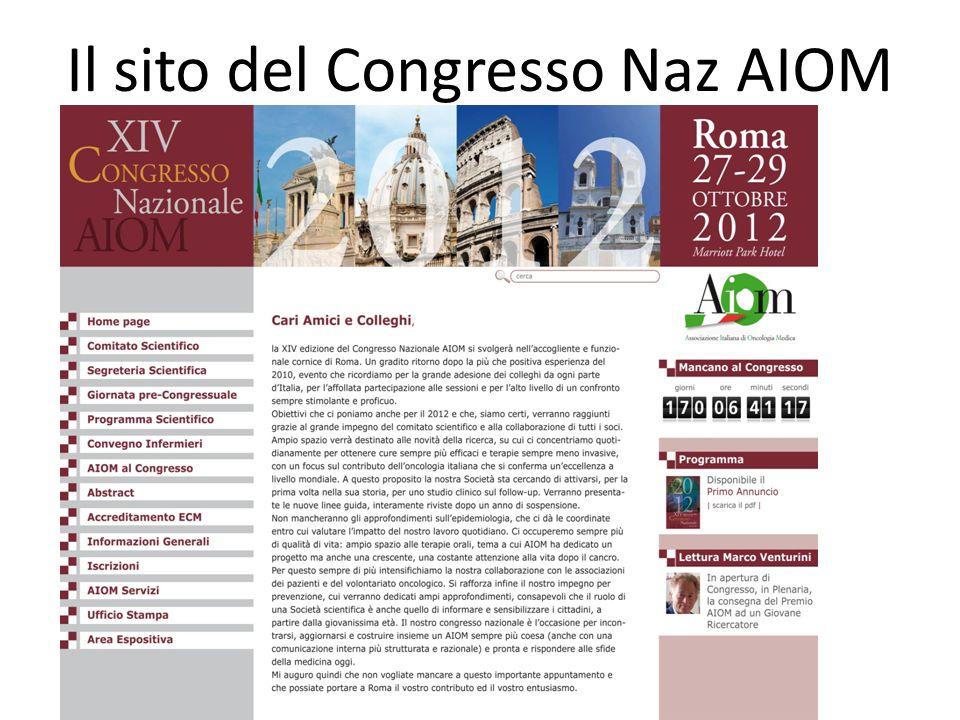 Il sito del Congresso Naz AIOM