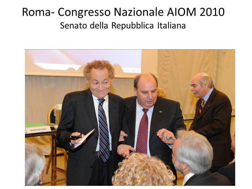 Roma- Congresso Nazionale AIOM 2010 Senato della Repubblica Italiana