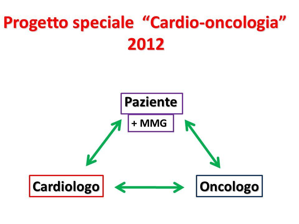 Paziente CardiologoOncologo + MMG Progetto speciale Cardio-oncologia 2012