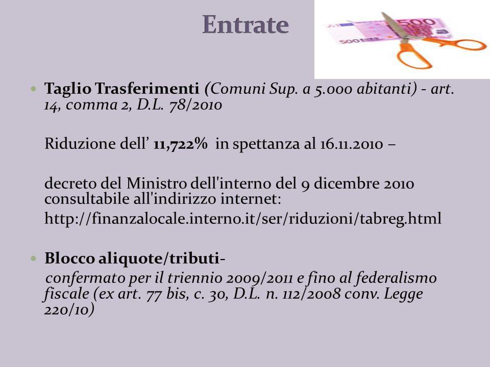 Dal 1° gennaio 2011 e fino al 31 dicembre 2013: Riduzione dei compensi del 10% rispetto agli importi alla data del 30.04.2010.