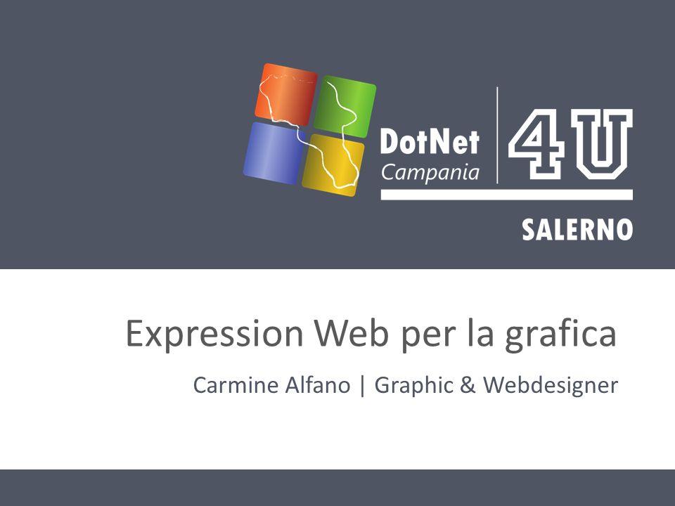 Expression Web per la grafica Carmine Alfano | Graphic & Webdesigner