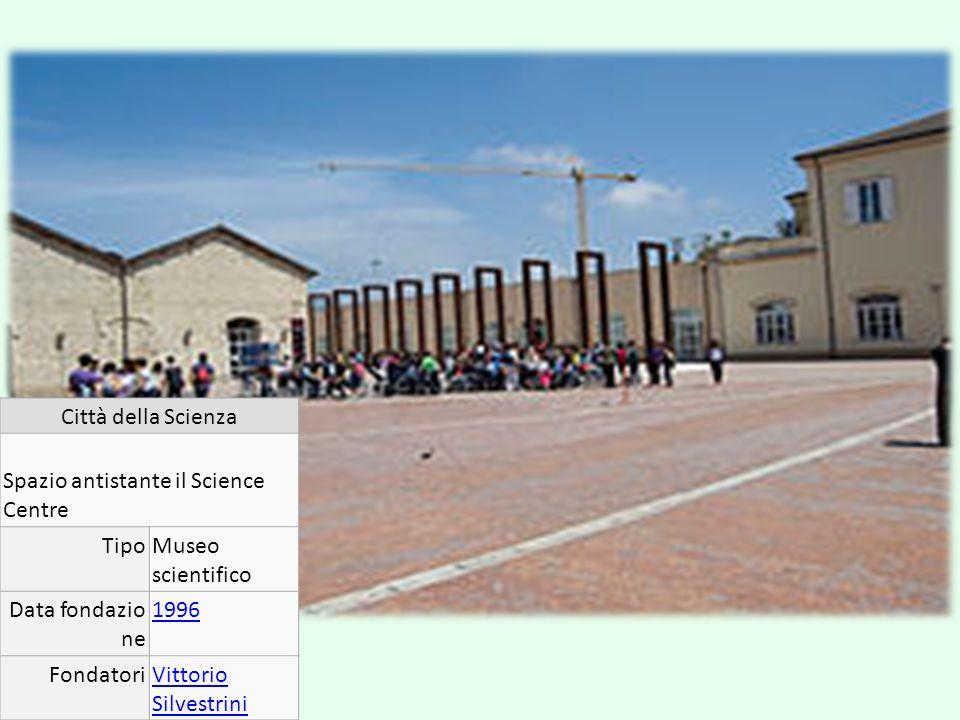 Città della Scienza Spazio antistante il Science Centre TipoMuseo scientifico Data fondazio ne 1996 FondatoriVittorio Silvestrini