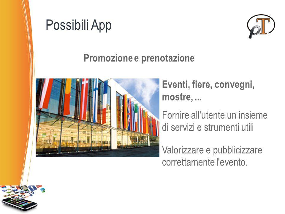 Promozione prenotazione vendita biglietti Cinema Teatri Treni Voli Ristoranti Hotel … Possibili App