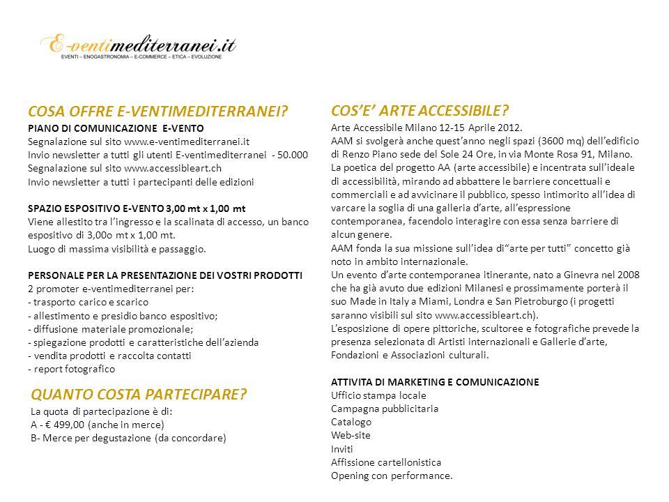 COSE ARTE ACCESSIBILE. Arte Accessibile Milano 12-15 Aprile 2012.