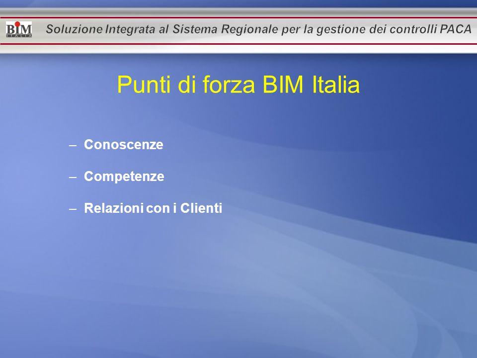 Punti di forza BIM Italia –Conoscenze –Competenze –Relazioni con i Clienti