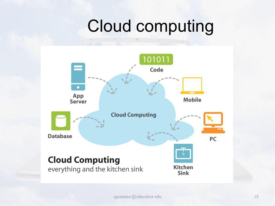 Cloud computing sgazziano@johncabot.edu18