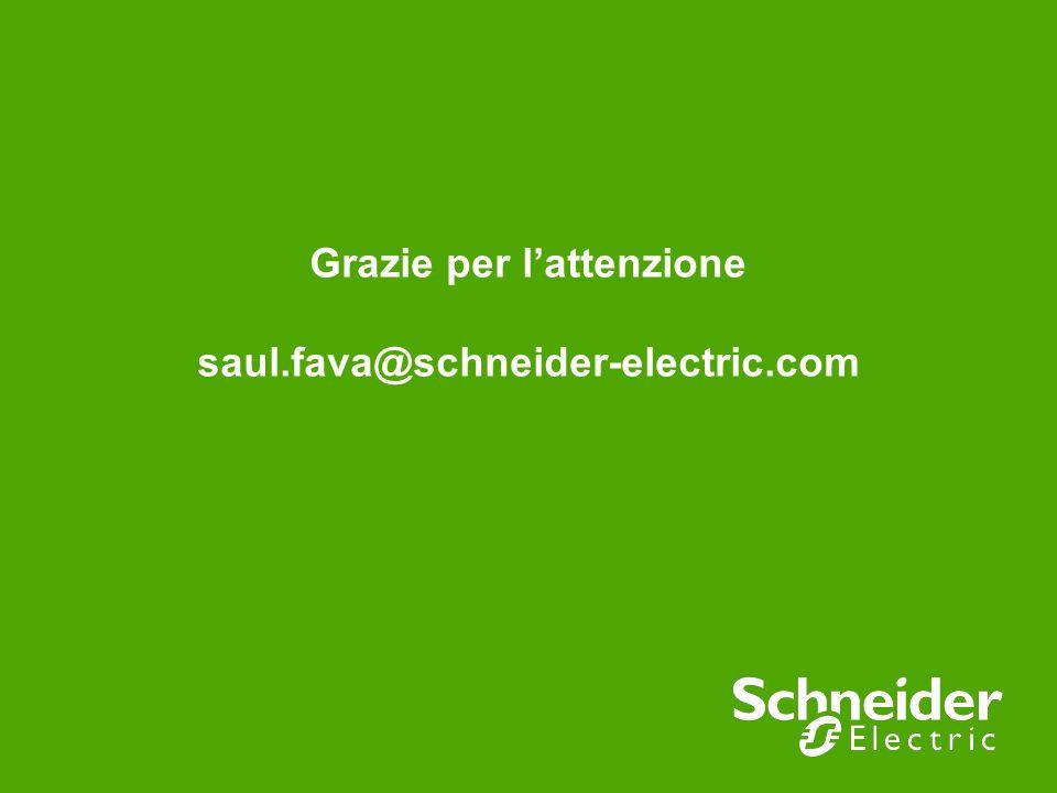 Grazie per lattenzione saul.fava@schneider-electric.com