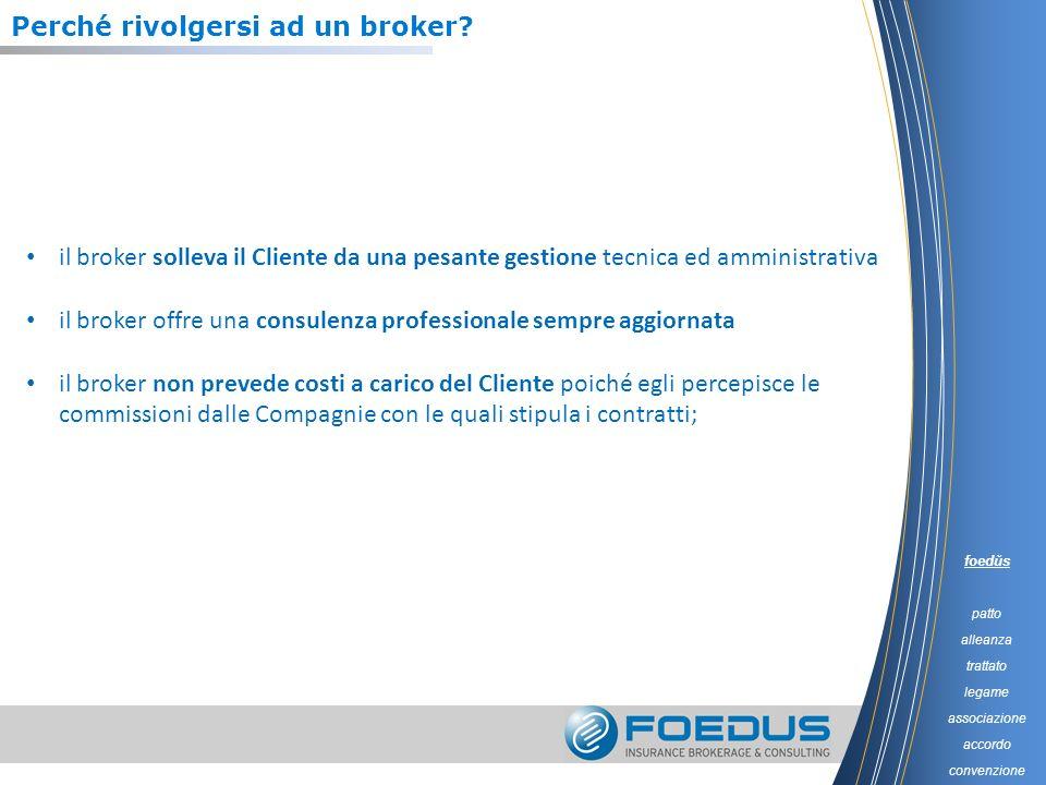 Perché rivolgersi ad un broker? il broker solleva il Cliente da una pesante gestione tecnica ed amministrativa il broker offre una consulenza professi