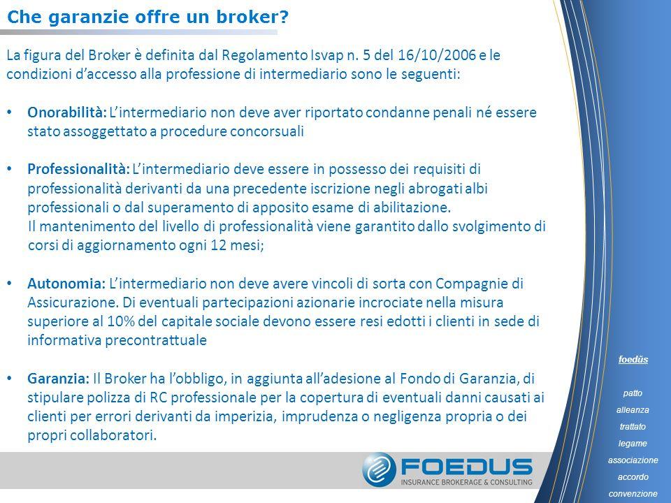 Che garanzie offre un broker? La figura del Broker è definita dal Regolamento Isvap n. 5 del 16/10/2006 e le condizioni daccesso alla professione di i