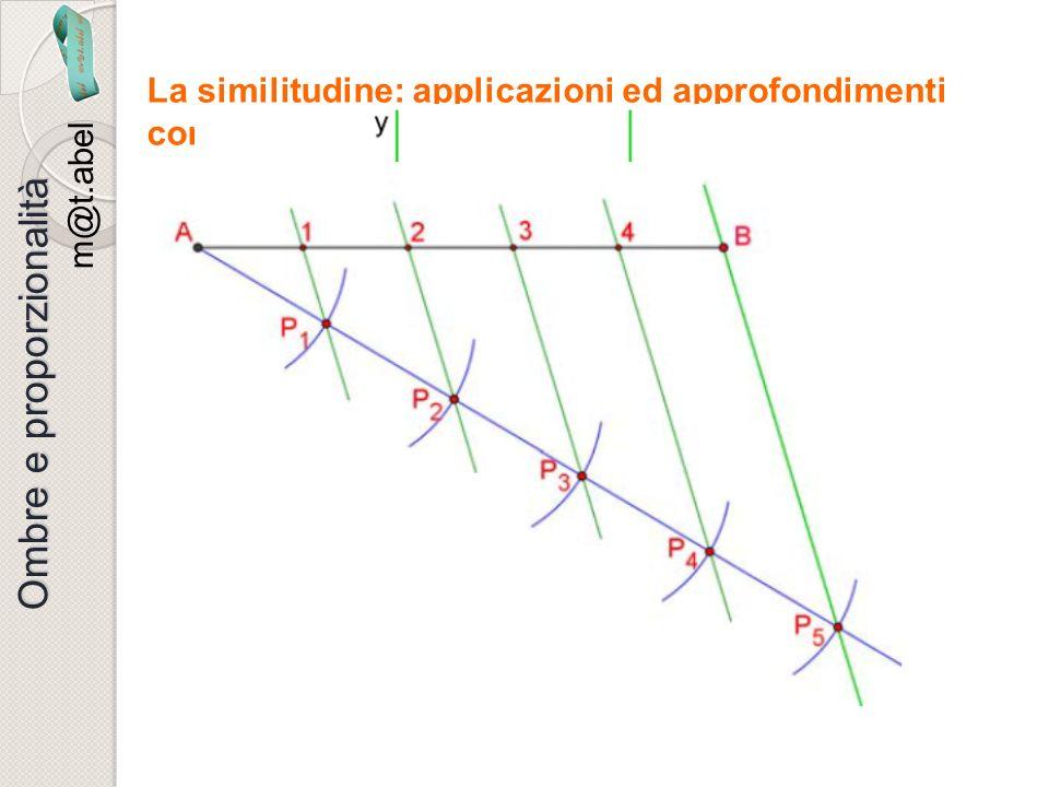 m@t.abel Ombre e proporzionalità La similitudine: applicazioni ed approfondimenti con un software di geometria dinamica