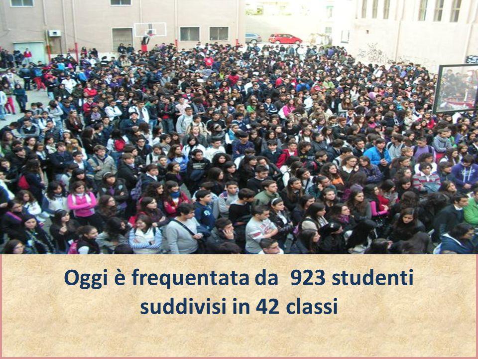 Oggi è frequentata da 923 studenti suddivisi in 42 classi