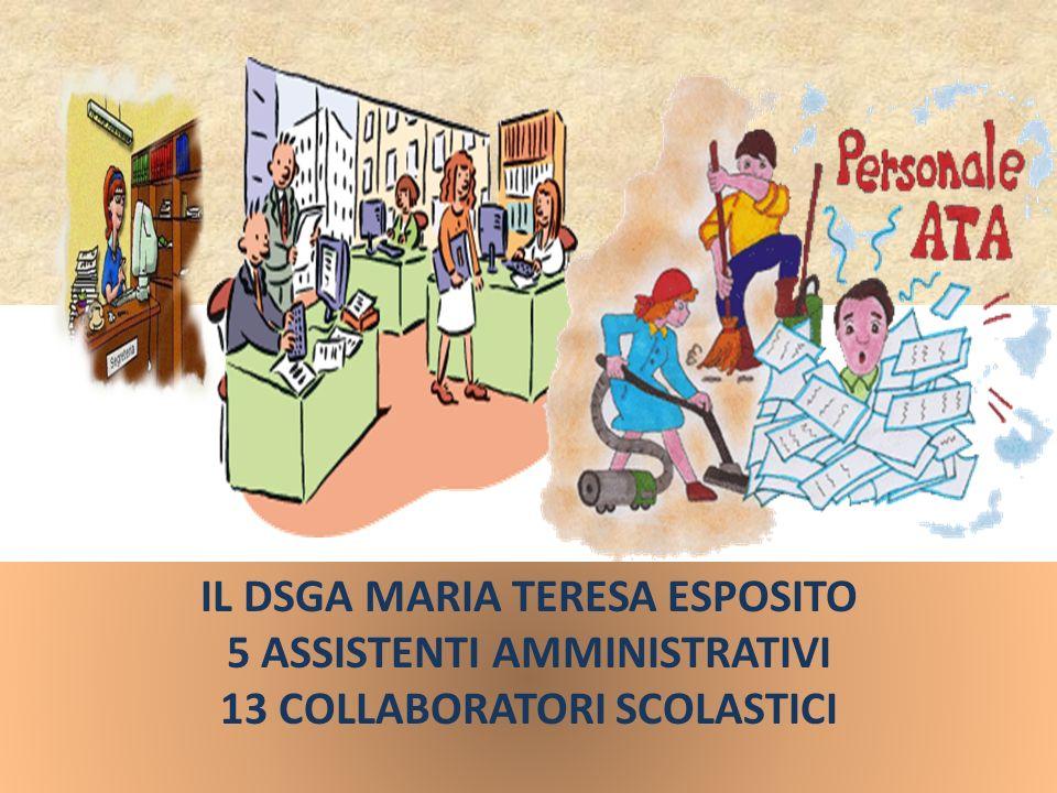 IL DSGA MARIA TERESA ESPOSITO 5 ASSISTENTI AMMINISTRATIVI 13 COLLABORATORI SCOLASTICI