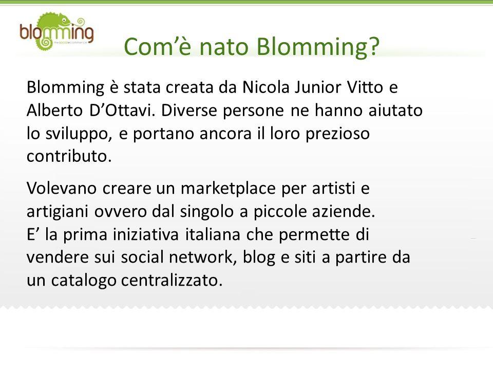 Comè nato Blomming. Blomming è stata creata da Nicola Junior Vitto e Alberto DOttavi.