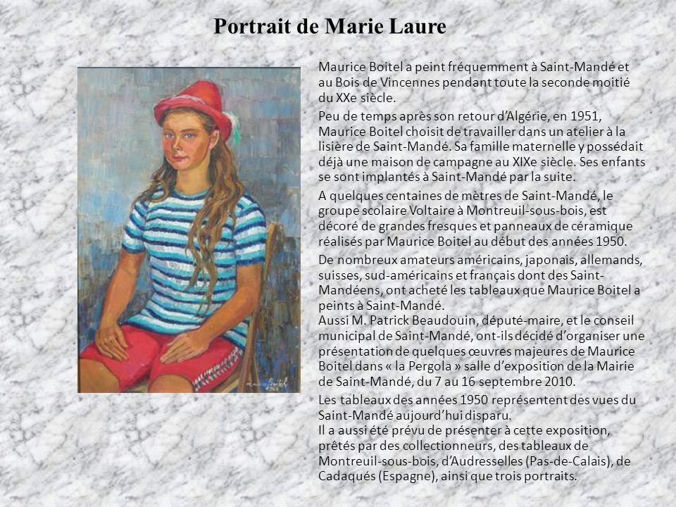 Portrait de Marie Laure Maurice Boitel a peint fréquemment à Saint-Mandé et au Bois de Vincennes pendant toute la seconde moitié du XXe siècle. Peu de