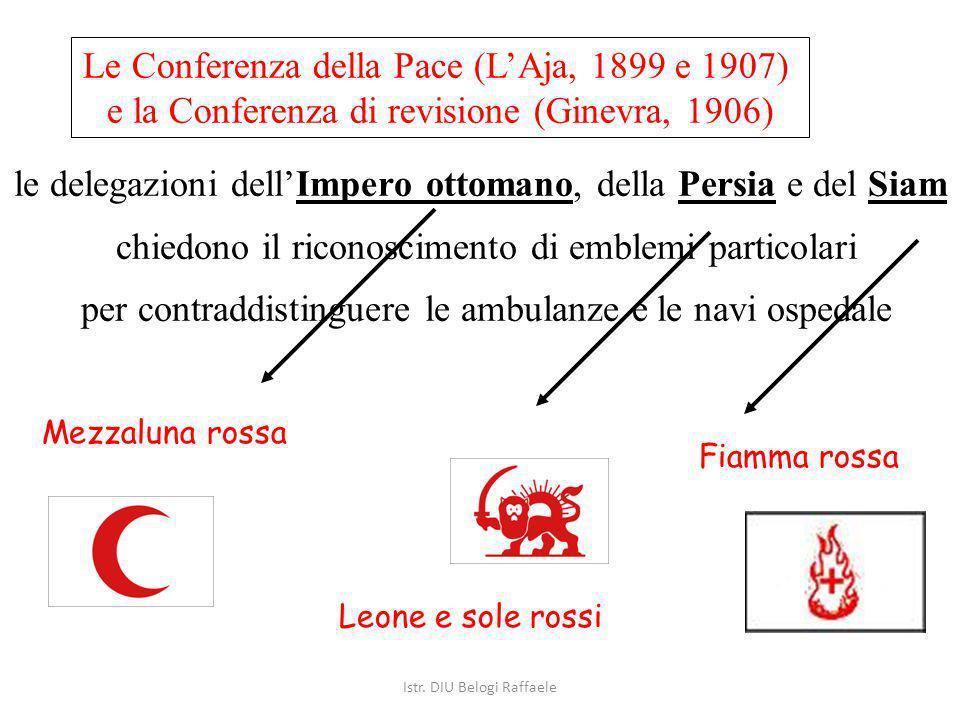 Le Conferenza della Pace (LAja, 1899 e 1907) e la Conferenza di revisione (Ginevra, 1906) le delegazioni dellImpero ottomano, della Persia e del Siam