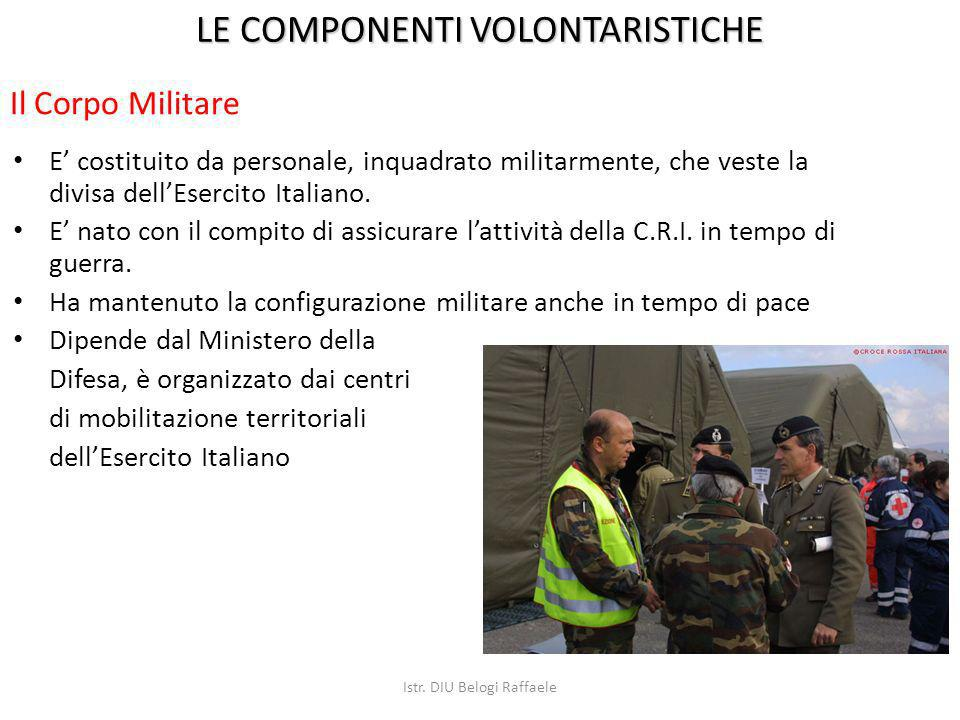 E costituito da personale, inquadrato militarmente, che veste la divisa dellEsercito Italiano. E nato con il compito di assicurare lattività della C.R