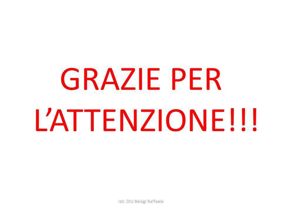 GRAZIE PER LATTENZIONE!!! Istr. DIU Belogi Raffaele