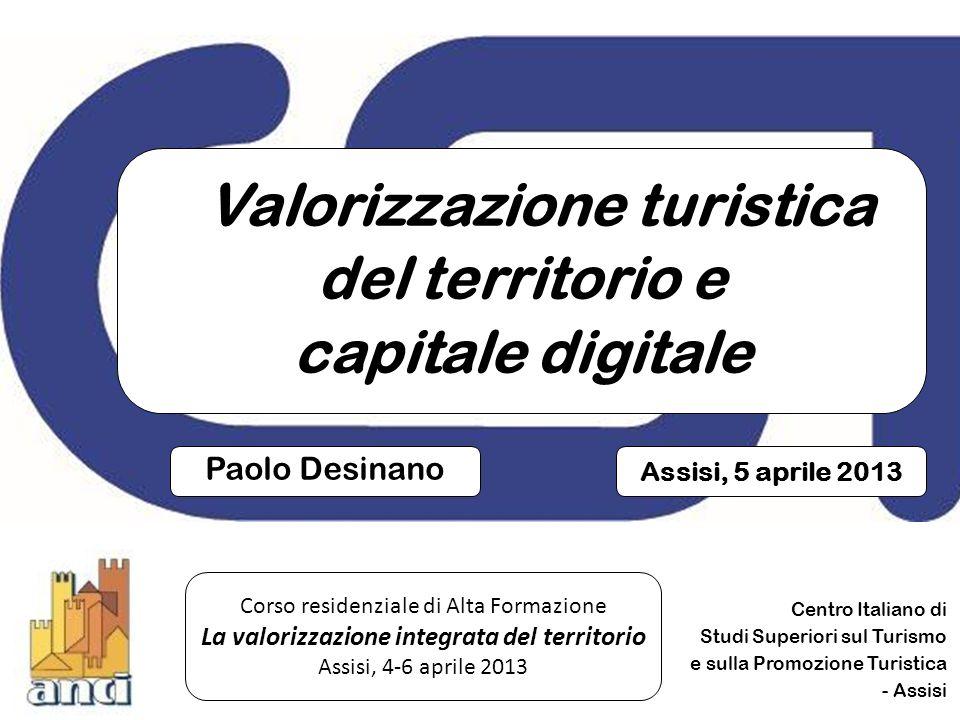 Valorizzazione turistica del territorio e capitale digitale 22 PROCESSI AMMINISTRATIVI & BIG DATA ANALYTICS (le sfide) Identificare le emergenze Formulare i problemi Individuare le soluzioni Reperire i dati Organizzare i dati Analizzare i dati