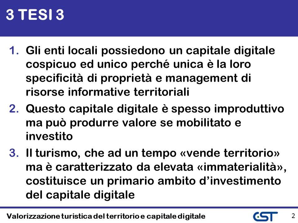 Valorizzazione turistica del territorio e capitale digitale 23 Turismo e capitale digitale