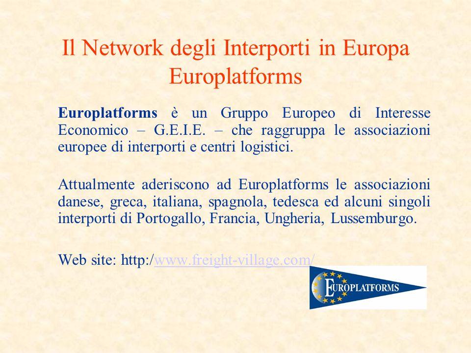Il Network degli Interporti in Europa Europlatforms Europlatforms è un Gruppo Europeo di Interesse Economico – G.E.I.E.