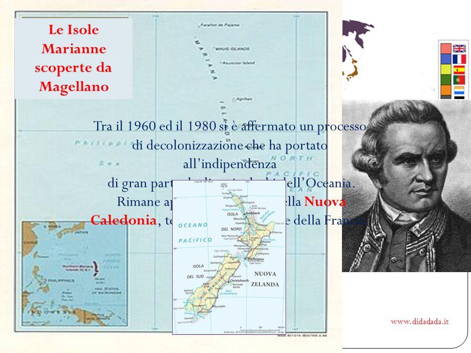 www.didadada.it Un mondo nuovissimo Le prime notizie certe sul continente in Europa arrivano con Magellano che durante il suo viaggio attraverso LOcea