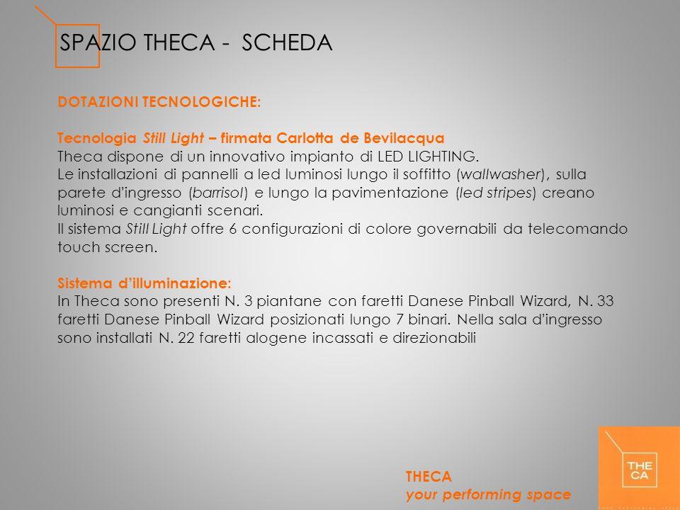 SPAZIO THECA - SCHEDA DOTAZIONI TECNOLOGICHE: Tecnologia Still Light – firmata Carlotta de Bevilacqua Theca dispone di un innovativo impianto di LED L
