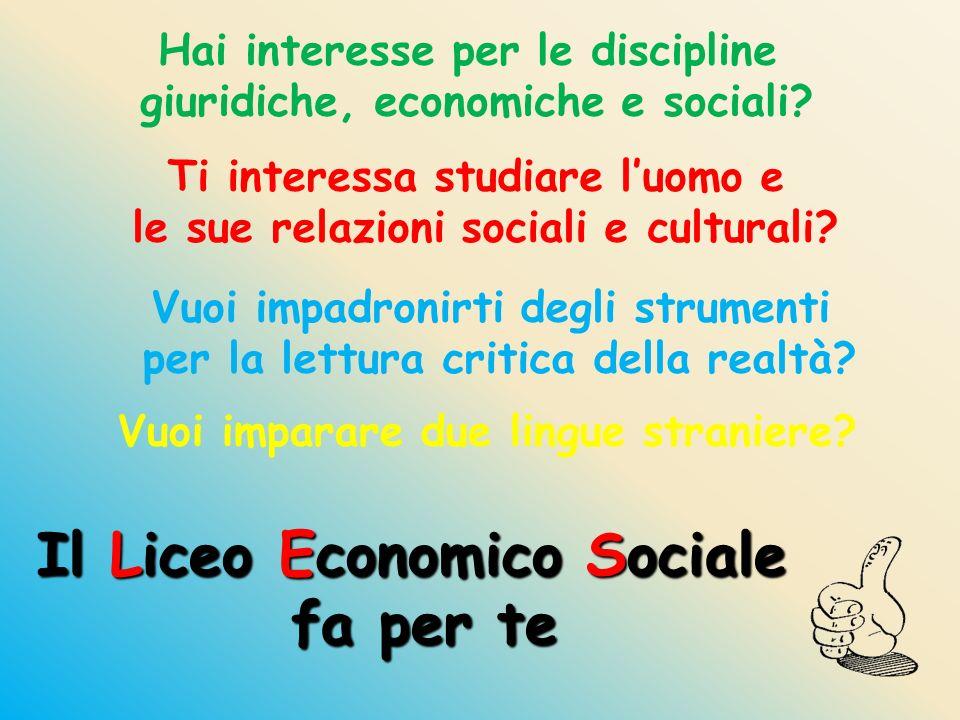 Hai interesse per le discipline giuridiche, economiche e sociali? Ti interessa studiare luomo e le sue relazioni sociali e culturali? Vuoi impadronirt