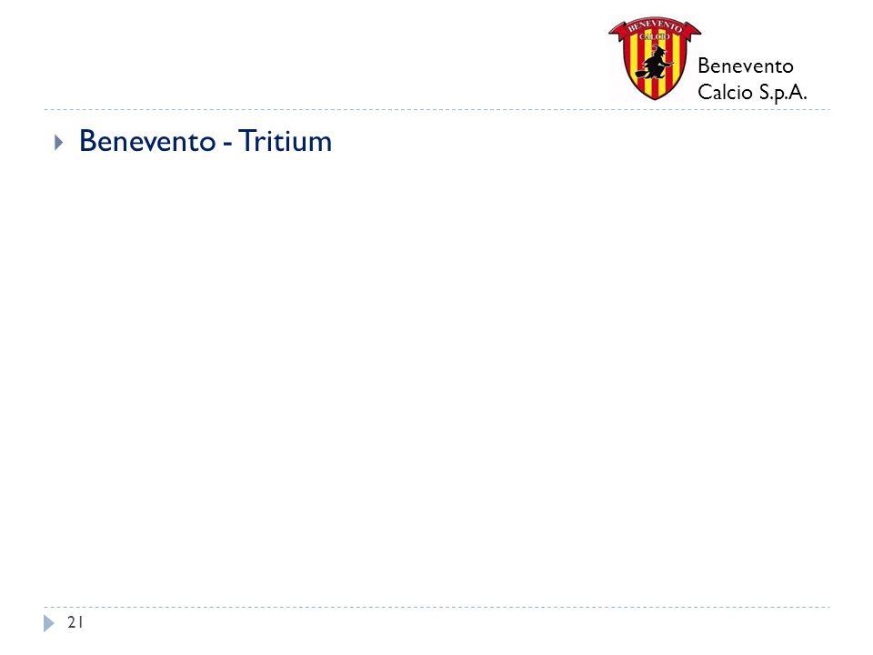 Benevento Calcio S.p.A. Benevento - Tritium 21