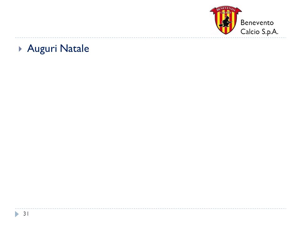Benevento Calcio S.p.A. Auguri Natale 31
