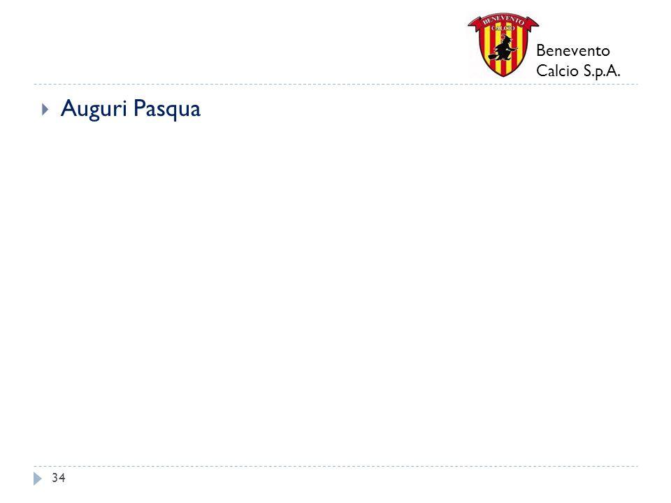 Benevento Calcio S.p.A. Auguri Pasqua 34