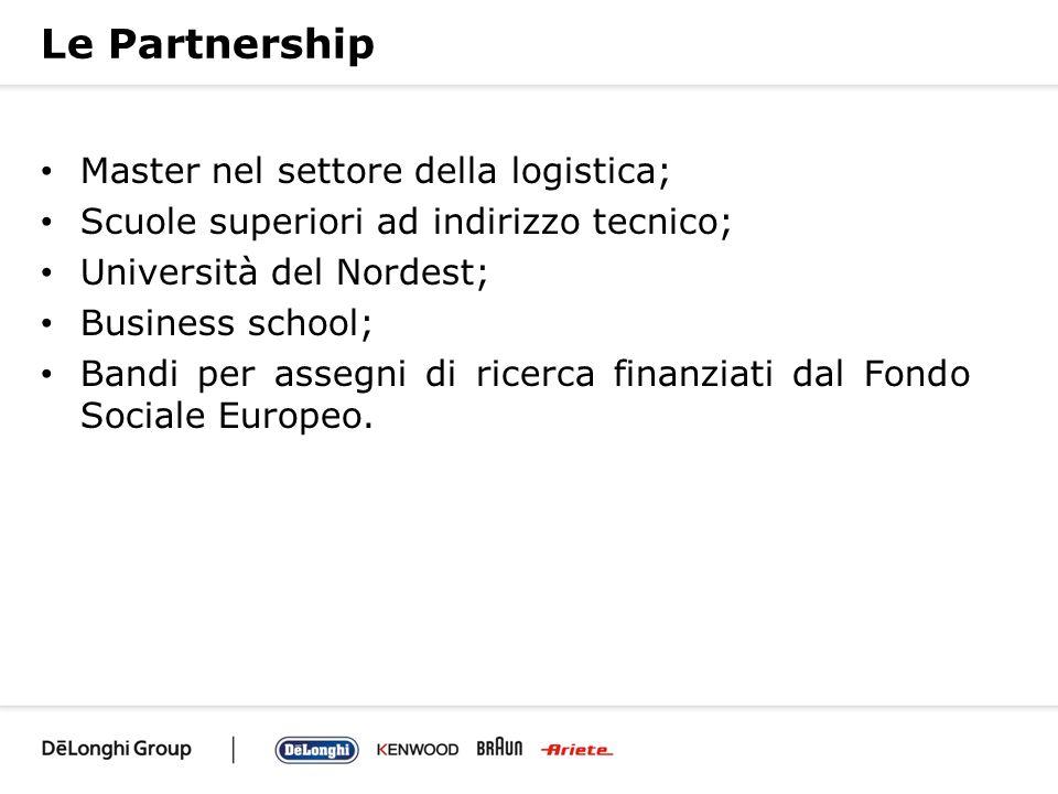 Le Partnership Master nel settore della logistica; Scuole superiori ad indirizzo tecnico; Università del Nordest; Business school; Bandi per assegni d