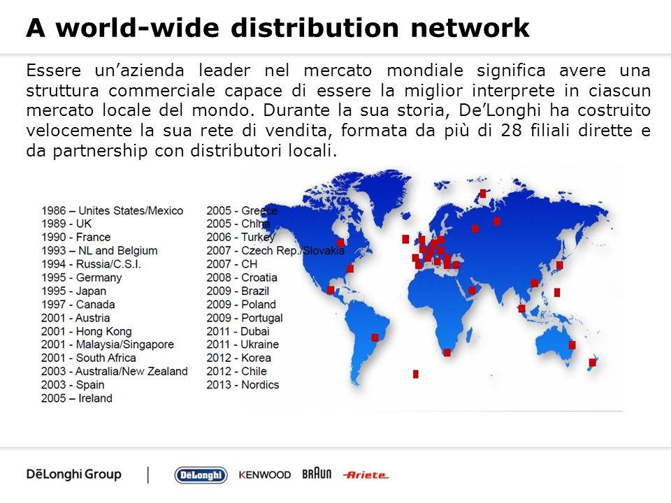 A world-wide distribution network Essere unazienda leader nel mercato mondiale significa avere una struttura commerciale capace di essere la miglior i