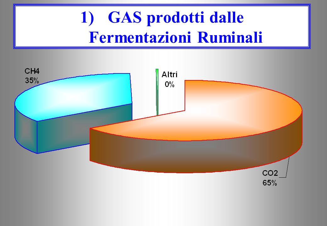 CO 2 ANIDRIDE CARBONICA CO 2 ANIDRIDE CARBONICA CH 4 METANO CH 4 METANO ALTRI (NH 3, H 2 S …) ALTRI (NH 3, H 2 S …) (AMMONIACA, IDROGENO SOLFORATO ECC