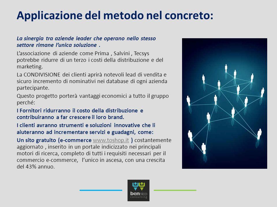 Applicazione del metodo nel concreto: La sinergia tra aziende leader che operano nello stesso settore rimane lunica soluzione.