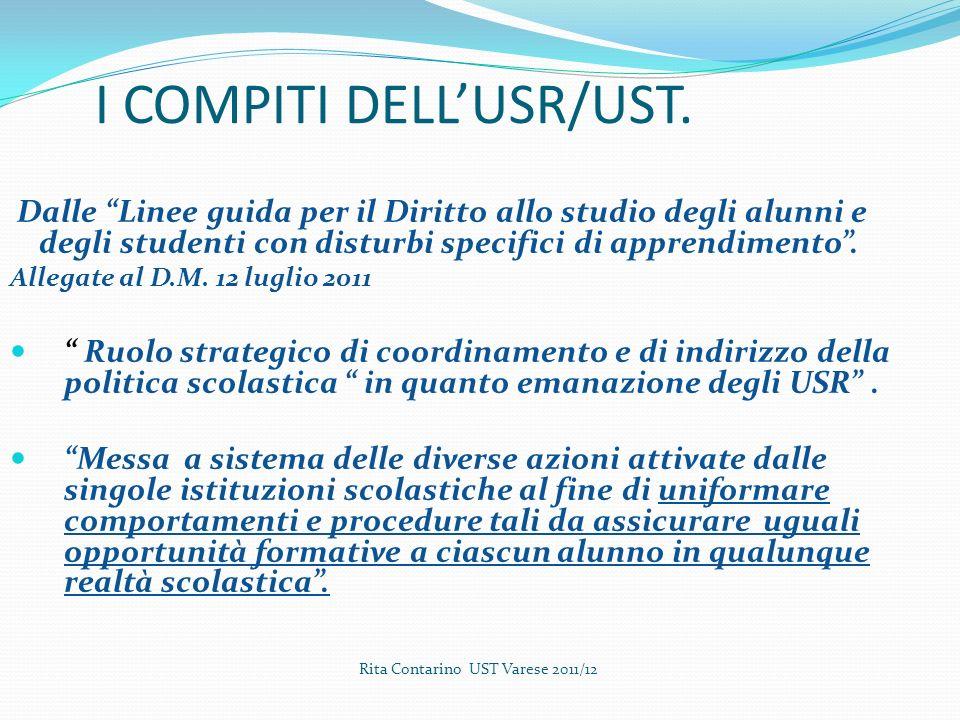 I COMPITI DELLUSR/UST.