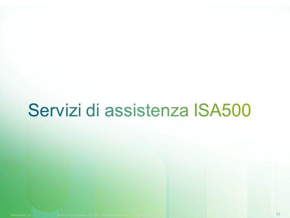 11 © 2012 Cisco Systems, Inc. Tutti i diritti sono riservati.Documento riservato CiscoPresentation_ID