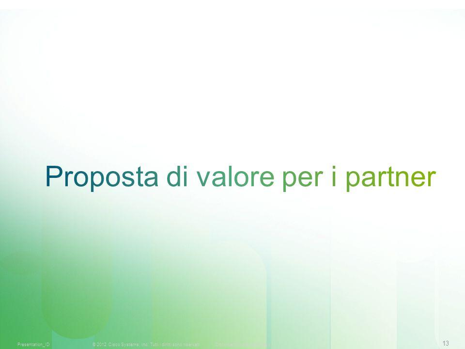 13 © 2012 Cisco Systems, Inc. Tutti i diritti sono riservati.Documento riservato CiscoPresentation_ID
